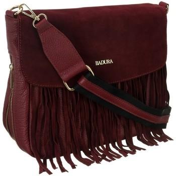 Torbice Ženske Ročne torbice Badura TD184CRCD Bordo rdeča