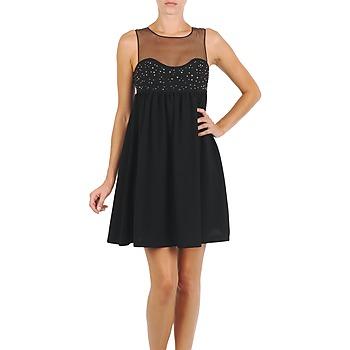 Oblačila Ženske Kratke obleke Manoush ROBE ETINCELLE Črna