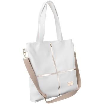Torbice Ženske Ročne torbice Badura TD176BIACD Bela