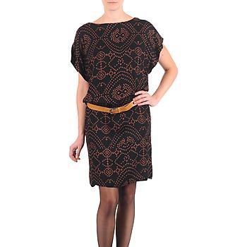 Oblačila Ženske Kratke obleke Antik Batik QUINN Črna