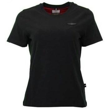 Oblačila Ženske Majice s kratkimi rokavi Aeronautica Militare TS1755 Črna