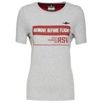 Oblačila Ženske Majice s kratkimi rokavi Aeronautica Militare TS1754 Bela