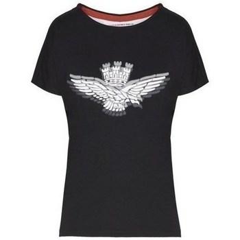Oblačila Ženske Majice s kratkimi rokavi Aeronautica Militare TS1881 Črna