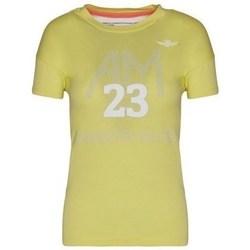 Oblačila Ženske Majice s kratkimi rokavi Aeronautica Militare TS1871DJ51057 Rumena