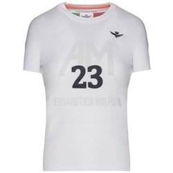 Oblačila Ženske Majice s kratkimi rokavi Aeronautica Militare TS1871DJ51073 Bela