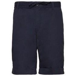 Oblačila Moški Kratke hlače & Bermuda Aeronautica Militare 201BE082CT2601 Mornarsko modra