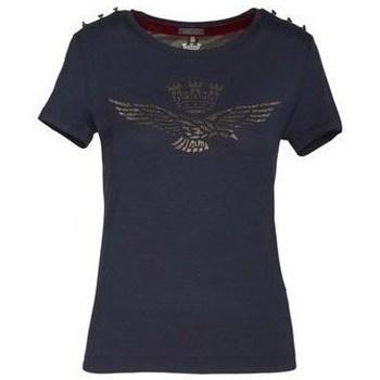 Oblačila Ženske Majice s kratkimi rokavi Aeronautica Militare 202TS1809DJ41408 Mornarsko modra
