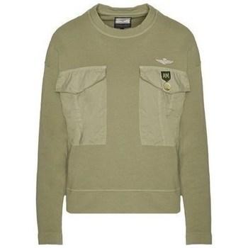 Oblačila Ženske Puloverji Aeronautica Militare FE1617DF43439 Olivna