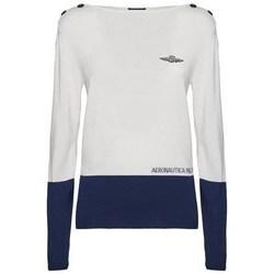 Oblačila Ženske Puloverji Aeronautica Militare 201MA1266DL404 Bela