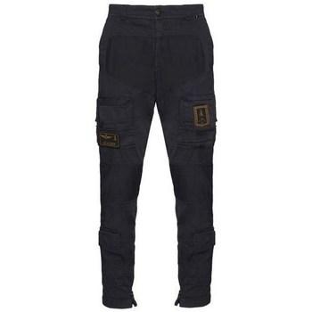 Oblačila Moški Hlače cargo Aeronautica Militare PA1387CT149308 Črna