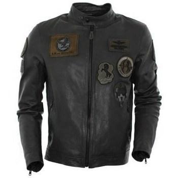 Oblačila Moški Jakne Aeronautica Militare PN5011 Črna