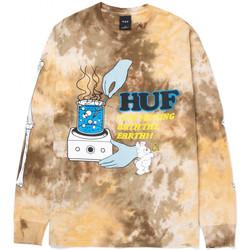 Oblačila Moški Majice z dolgimi rokavi Huf T-shirt mess tiedye ls Kostanjeva