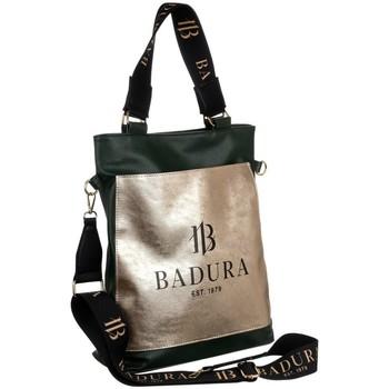 Torbice Ženske Ročne torbice Badura 131100 Črna, Zlata