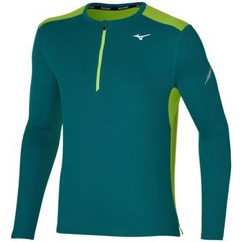 Oblačila Moški Majice z dolgimi rokavi Mizuno Dryaeroflow HZ Zelena