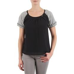 Oblačila Ženske Majice s kratkimi rokavi Lollipops PADELINE TOP Črna / Siva