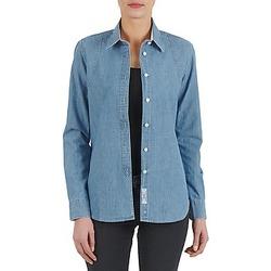 Oblačila Ženske Srajce & Bluze Kulte CHEMISE CIRCUIT 101826 BLEACH Modra