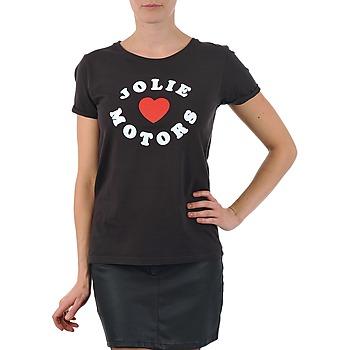 Oblačila Ženske Majice s kratkimi rokavi Kulte LOUISA JOLIEMOTOR 101954 NOIR Črna