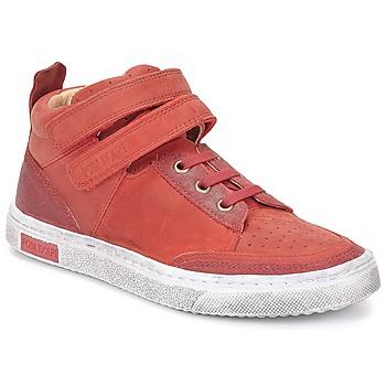 Čevlji  Deklice Visoke superge Pom d'Api BACK BASKET Rdeča