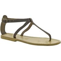 Čevlji  Ženske Sandali & Odprti čevlji Gianluca - L'artigiano Del Cuoio 582 D MORO LGT-CUOIO Testa di Moro
