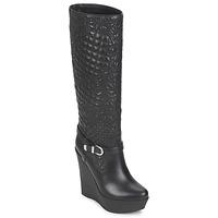 Čevlji  Ženske Mestni škornji    Versace DSL909R Črna