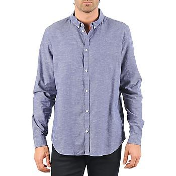 Oblačila Moški Srajce z dolgimi rokavi Cheap Monday DAMON BD SHIRT Modra