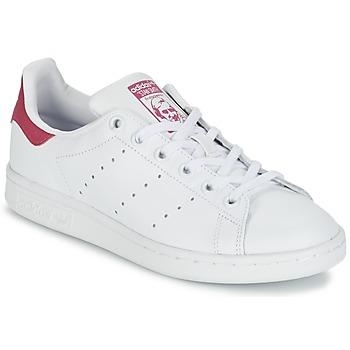 Čevlji  Deklice Nizke superge adidas Originals STAN SMITH J Bela / Rožnata