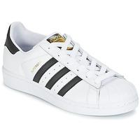 Čevlji  Otroci Nizke superge adidas Originals SUPERSTAR J Bela / Črna