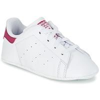 Čevlji  Deklice Nizke superge adidas Originals STAN SMITH CRIB Bela / Rožnata