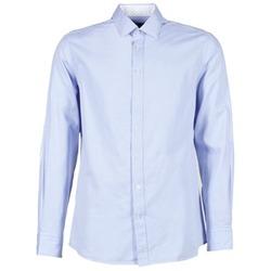 Oblačila Moški Srajce z dolgimi rokavi Hackett SQUARE TEXT MUTLI Modra