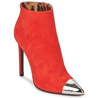 Čevlji  Ženske Gležnjarji Roberto Cavalli WDS213 Rdeča