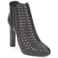 Čevlji  Ženske Gležnjarji Roberto Cavalli WDS227 Črna