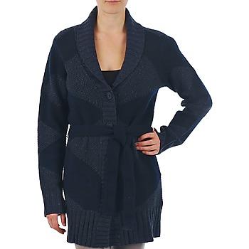 Oblačila Ženske Telovniki & Jope Gant N.Y. DIAMOND SHAWL COLLAR CARDIGAN Modra