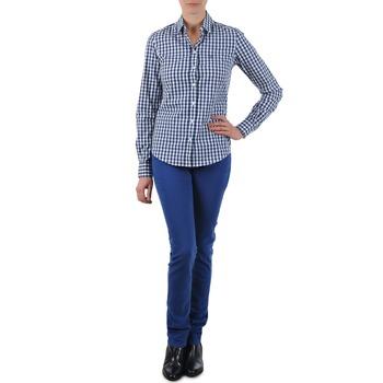 Oblačila Ženske Jeans straight Gant N.Y. KATE COLORFUL TWILL PANT Modra