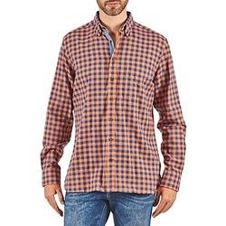 Oblačila Moški Srajce z dolgimi rokavi Hackett SOFT BRIGHT CHECK Oranžna / Modra