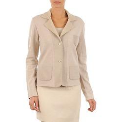 Oblačila Ženske Jakne & Blazerji Majestic 244 Bež
