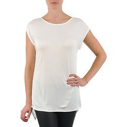Oblačila Ženske Majice s kratkimi rokavi La City TS CROIS D6 Bela