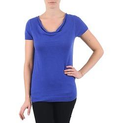 Oblačila Ženske Majice s kratkimi rokavi La City PULL COL BEB Modra