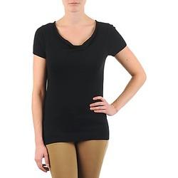 Oblačila Ženske Majice s kratkimi rokavi La City PULL COL BEB Črna