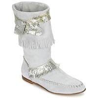 Čevlji  Ženske Mestni škornji    Now MATELI Siva / Srebrna