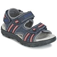 Čevlji  Deklice Športni sandali Geox S.STRADA A Rdeča