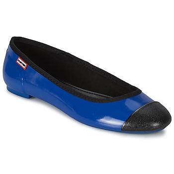 Čevlji  Ženske Balerinke Hunter ORIGINAL BALLET FLAT Kobaltová modř