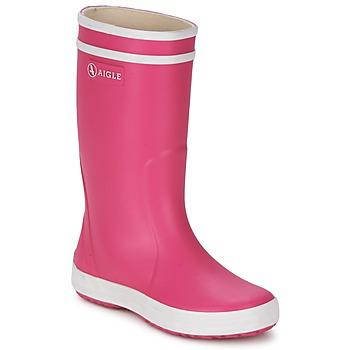 Čevlji  Deklice škornji za dež  Aigle LOLLY-POP Rožnata / Bela