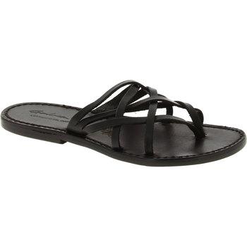 Čevlji  Ženske Sandali & Odprti čevlji Gianluca - L'artigiano Del Cuoio 543 D NERO CUOIO nero