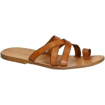 Čevlji  Moški Sandali & Odprti čevlji Gianluca - L'artigiano Del Cuoio 549 U CUOIO CUOIO Cuoio