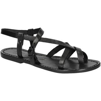 Čevlji  Ženske Sandali & Odprti čevlji Gianluca - L'artigiano Del Cuoio 530 D NERO CUOIO nero