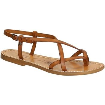 Čevlji  Ženske Sandali & Odprti čevlji Gianluca - L'artigiano Del Cuoio 537 D CUOIO CUOIO Cuoio