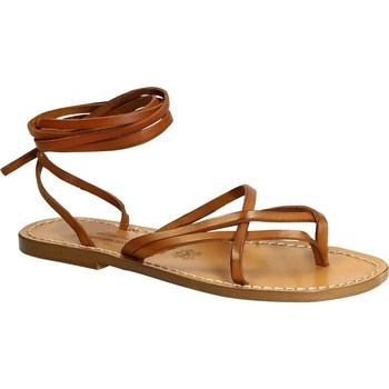 Čevlji  Ženske Sandali & Odprti čevlji Gianluca - L'artigiano Del Cuoio 514 D CUOIO CUOIO Cuoio