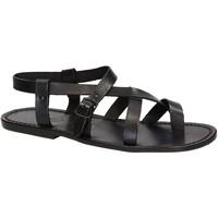 Čevlji  Moški Sandali & Odprti čevlji Gianluca - L'artigiano Del Cuoio 530 U NERO CUOIO nero