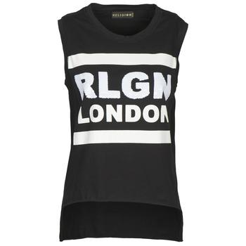 Oblačila Ženske Majice brez rokavov Religion B123RGT41 Črna