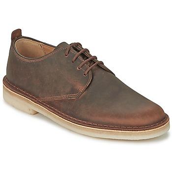 Čevlji  Moški Čevlji Derby Clarks DESERT LONDON Kostanjeva